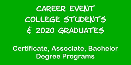 Career Event for State U of New Jersey Students tickets