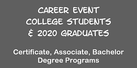 Career Event for USC, UCLA , CSU Long Beach Students tickets
