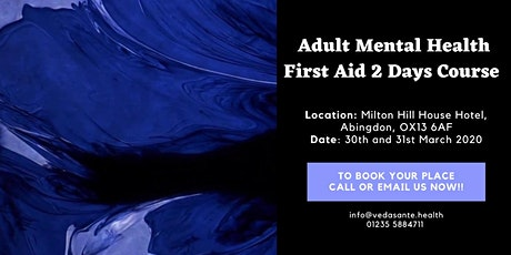 MENTAL HEALTH ADULT ACCREDITED FIRST AID 2 DAYS COURSE (MHFA ENGLAND) tickets