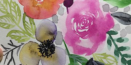 Watercolor 101: Florals tickets