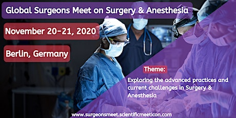 Global Surgeons Meet on Surgery and Anesthesia tickets