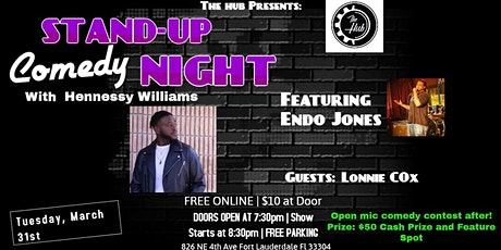 "Comedy Night/Open Mic Contest with ""Hennessy Williams"" at The Hub Lounge  tickets"