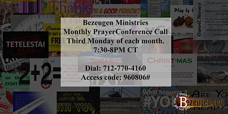 Bezeugen Partners Monthly Prayer Conference Call tickets