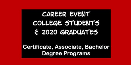Career Event for U. COLORADO, U. Denver,  CSU &  U. NORTHERN CO  Students tickets