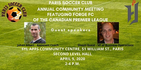 Paris Soccer Club Annual Community Meeting tickets