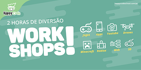 Workshop YOUTUBER JR - 9 / 14 anos (Happy Code Campo Ourique) bilhetes