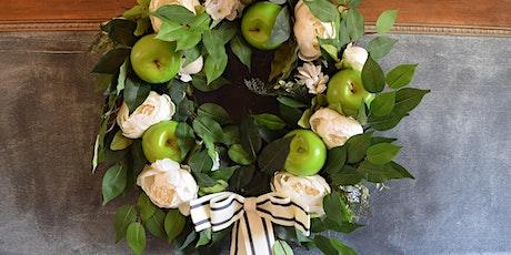 """Wine & Vine"" Wreath Making Workshop: Apple and Peony Wreath tickets"