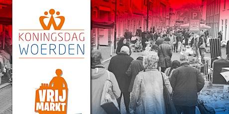 Grondplekken vrijmarkt Koningsdag Woerden 2020 tickets