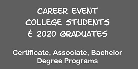 Career Event for U ALABAMA Students tickets