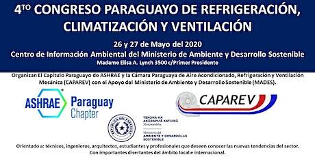 4° Congreso Paraguayo de Refrigeración, Climatización y Ventilación entradas