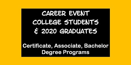 Career Event for UC DAVIS Students tickets