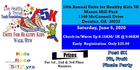2020 Unite for Healthy Kids 5K Walk & Run tickets