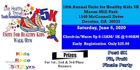 2020 Unite for Healthy Kids 5K Walk & Run tickets
