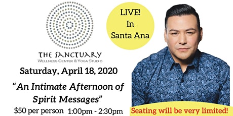 An Intimate Afternoon of Spirit Messages with Psychic Medium A.J. Barrera tickets