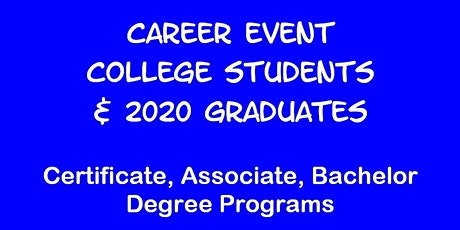 Career Event for UC IRVINE Students tickets