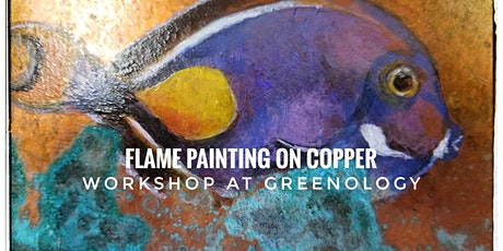 Flame Painting On Copper Paint And Sip Workshop At Greenology tickets