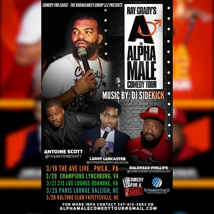 The Alpha Male Comedy Tour image