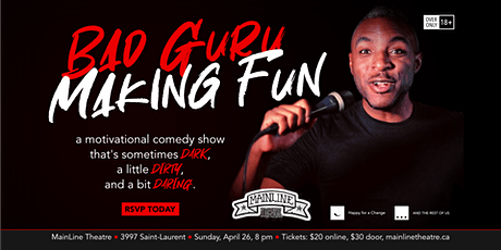 Bad Guru | Making Fun - A Motivational Standup Comedy Show billets