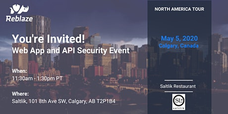 Reblaze Lunch - Web App and API Security Event tickets