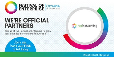 POSTPONED EVENT - Real Networking at The Festival of Enterprise. tickets