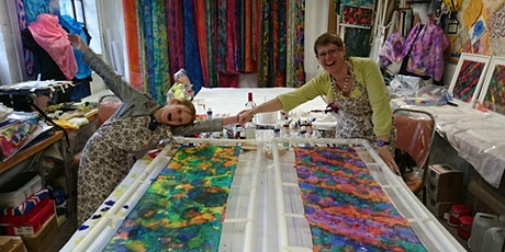 Freestyle Painted Silk Scarf Course tickets