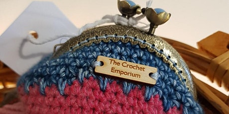 Learn to crochet and create a beautiful Kiss-clasp purse tickets