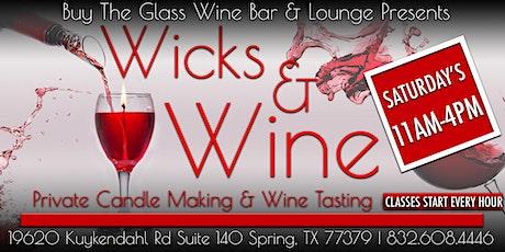 Wicks n' Wine | Candle Making & Wine Tasting Experience biglietti