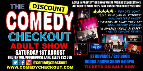 Adults Only Comedy Show - The Discount Comedy Checkout - Leeds - 01st Aug tickets