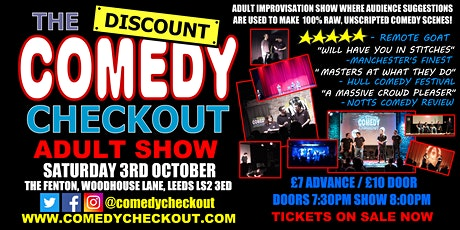 Adults Only Comedy Show - The Discount Comedy Checkout - Leeds - 3rd Oct tickets
