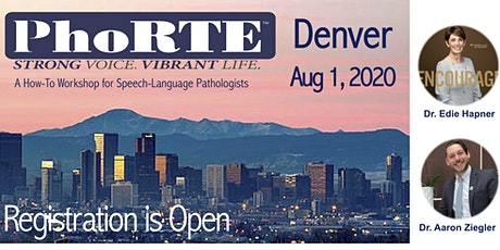 PhoRTE SLP Training Workshop in Denver, CO, August 1, 2020 tickets