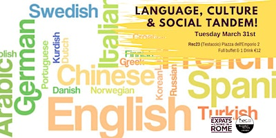 Tuesday Language, Culture & Social Tandem!
