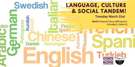 Tuesday Language, Culture & Social Tandem! biglietti