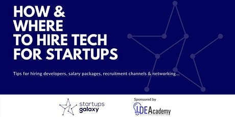 How & Where to Hire Tech for Startups tickets