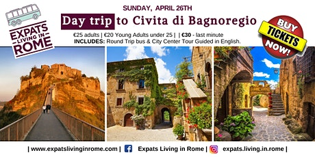 "Day Trip to Civita Di Bagnoregio ""The Dying Town"" tickets"
