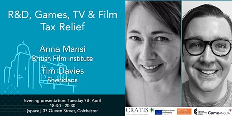 R&D, TV, Film and Games Tax Relief - Cratis Evening Presentation tickets