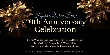 Taylor's 40th Anniversary Parking Lot Party tickets