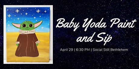 Baby Yoda Paint and Sip tickets