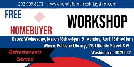 Exit Flagship Realty Home Buyer Education Workshop w/Realtor, Sontia Foman tickets
