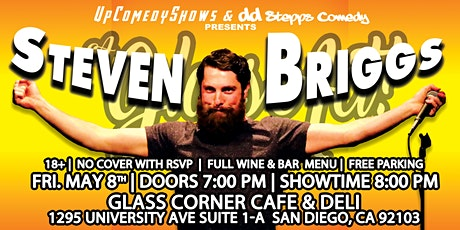 Comedy Night at Glass Corner Cafe- May 8th: STEVEN BRIGGS tickets