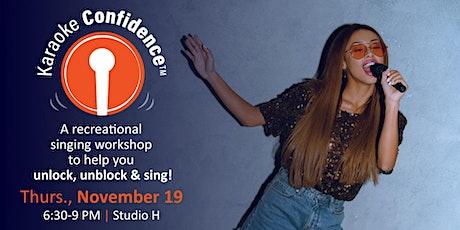 Karaoke Confidence Workshop 11/19/20 tickets