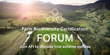 TAS FORUM: Farm Biodiversity Certification Scheme Trial tickets