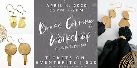 Brass Earring Workshop tickets
