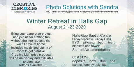 Scrapbooking Retreat in Halls Gap tickets