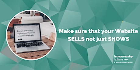 Make sure that your Website SELLS not just SHOWS - Zoom Options Available tickets