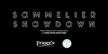 Sommelier Showdown: Fraser's Restaurant v Mayfair Lane for Good Food Month tickets