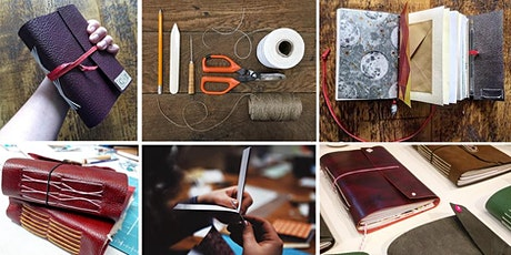 Create a hand-bound A5 leather sketchbook or journal at The Line tickets