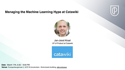 **POSTPONED**Managing the Machine Learning Hype at Catawiki tickets