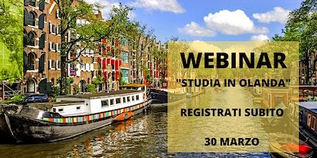 Ancora un mese per poter studiare in Olanda nel 2020! biglietti