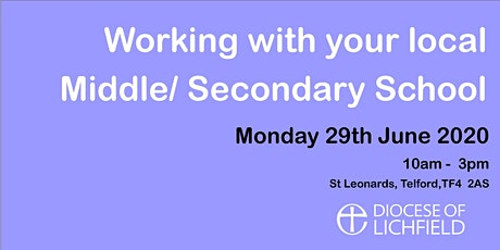 Working with your local middle/secondary schools. tickets