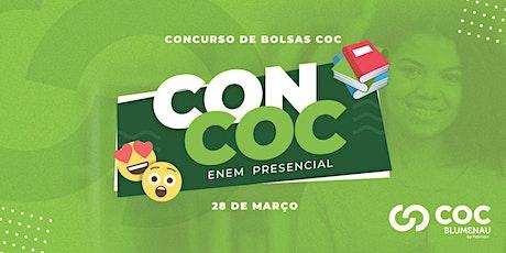 CONCURSO DE BOLSA - PREPARATÓRIO ENEM - COC BLUMENAU ingressos